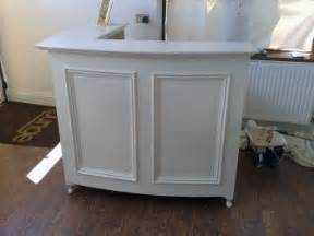 Vintage Salon Reception Desk Style Shabby Chic L Shape Reception Desk Retail Desk With Moulded Panel Front