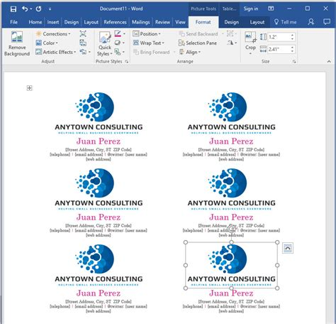 How To Select Business Card Template In Word by How To Make Your Own Business Cards In Word