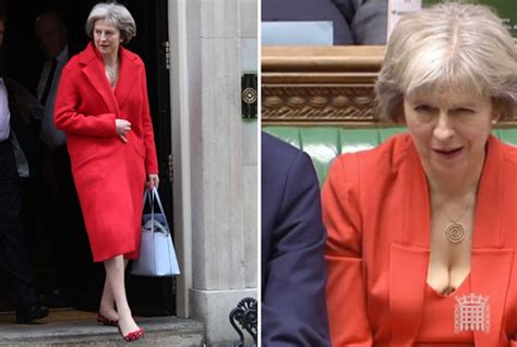 Terisa Top budget 2016 theresa may s low cut top sends