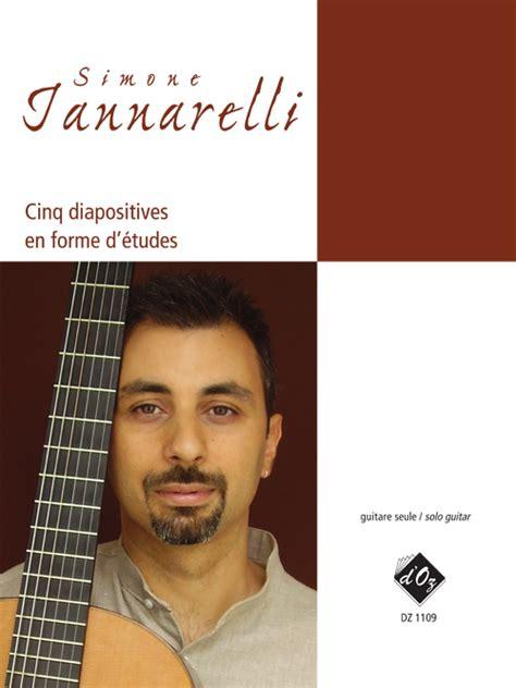 cinq etudes dethnologie iannarelli simone solo guitar