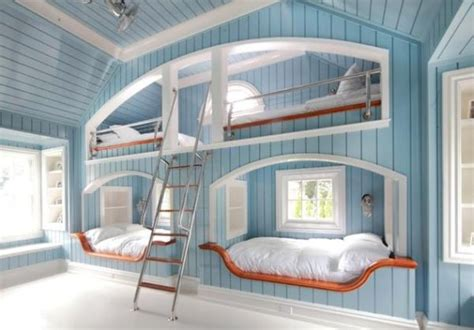 Themed Bunk Beds Beautiful Bunk Beds Inspired By The Coastal Theme Decoist