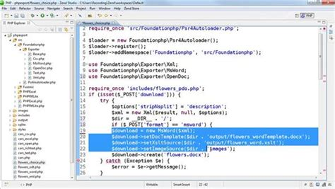 html tutorial docx how to create a docx file as a template in php export