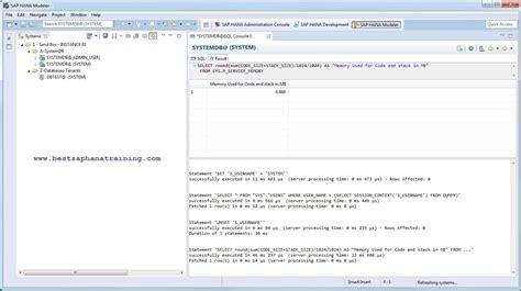 sql script tutorial sap hana how to use sap hana studio sql console how to learn hana