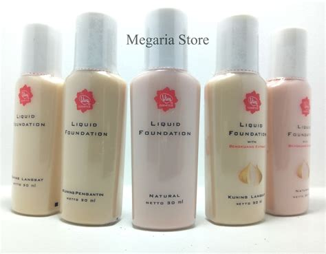 Foundation Viva Kosmetik Jual Viva Liquid Foundation 30ml Megaria Store