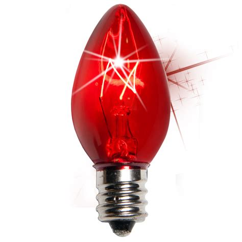 c7 christmas light bulb c7 twinkle red christmas light