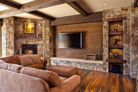 美式乡村室内装修电视墙效果图 土巴兔装修效果图