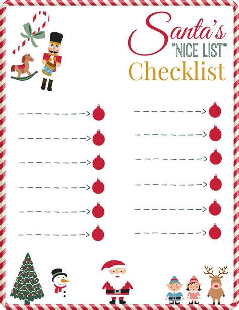 printable santa good list santa s nice list checklist printable 730 sage street