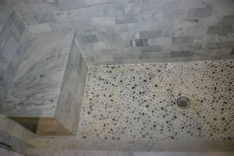 Riverstone Tile Bathroom Riverstone Shower Floor In Mid Century Style Roy Home Design