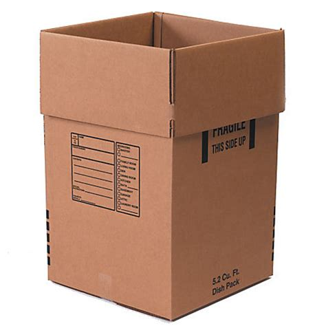 office depot brand dish moving boxes 18 x 18 x 28 pack of