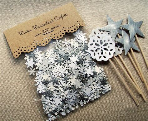 Snowflake Table Decorations by Winter Confetti Snowflake Table Decorations Winter Wedding Decor Snowflakes