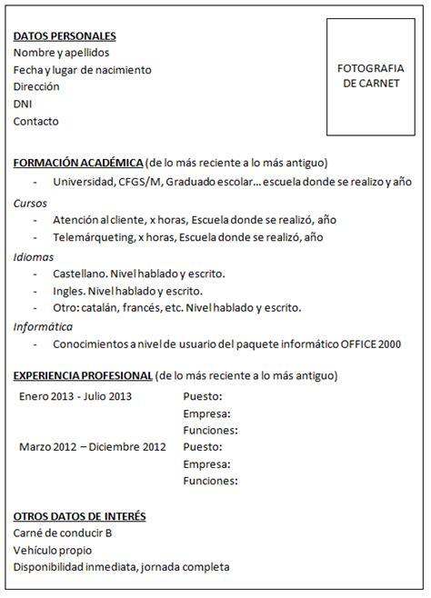 Modelo Curriculum Irlanda Julio 2013 Juniortalent