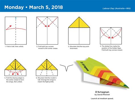 How To Make A Paper Airplane That Flips - paper airplane fold a day 2018 calendar