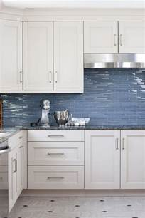 Blue Tile Backsplash Kitchen Blue Glass Kitchen Backsplash Tiles Transitional Kitchen