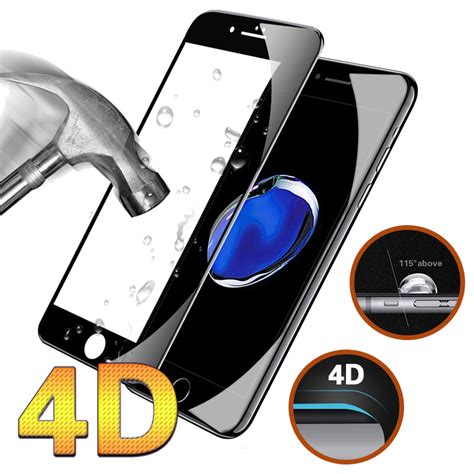 Tempred Glass 4d Iphone6plus 4d cover tempered glass for iphone 6 6s 7 plus 9h curved edge protective premium