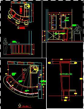 bar counter dwg block  autocad designs cad