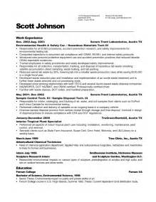 maintenance resume objective exles recentresumes