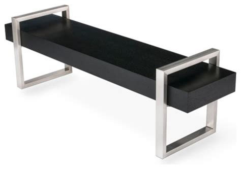 return bench return bench oak black contemporary indoor benches