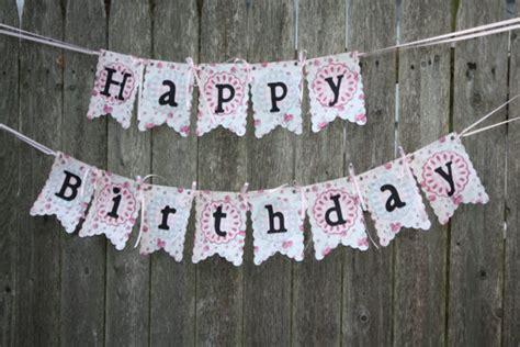 happy birthday country style shabby chic happy birthday banner