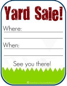 caign yard sign templates 1000 images about yard sale tips on garage
