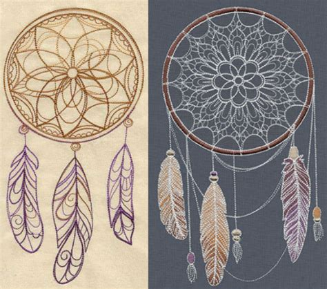 dreamcatcher embroidery design natural elegance fantastic feather embroidery designs