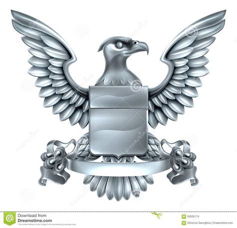 eagle heraldry design stock vector image 59505174