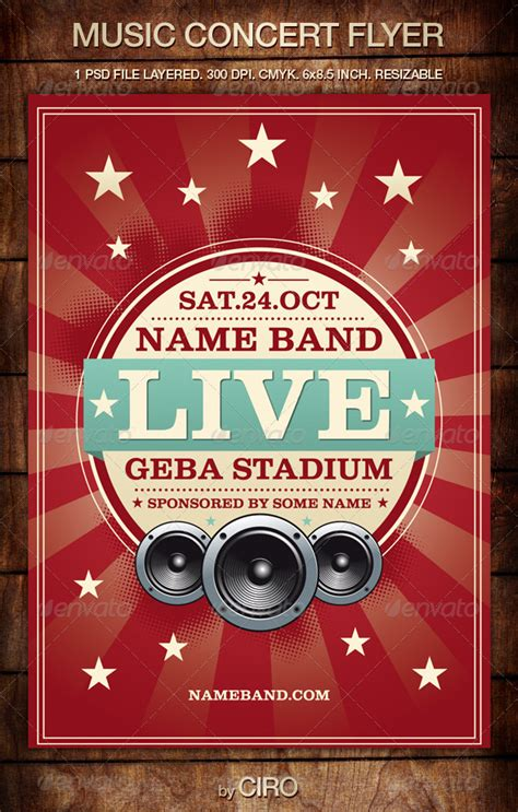 music concert flyer by cirodg graphicriver