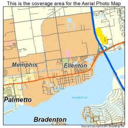 aerial photography map of ellenton fl florida