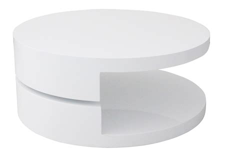Table Basse Ronde Blanche 3272 by Deco In Table Basse Laquee Blanche Ronde