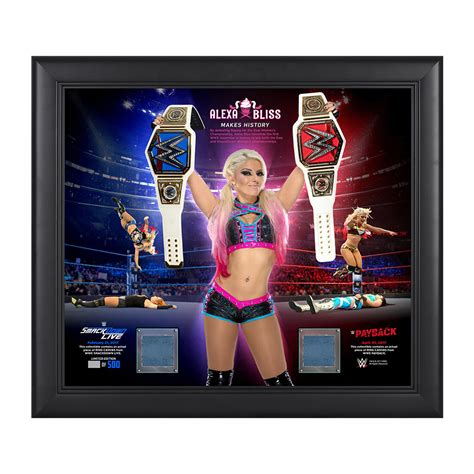 Kaos Funko bliss makes history 15 x 17 framed plaque w ring