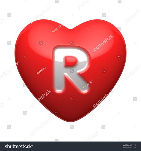 Herz Mit Buchstaben by Letter R Alphabet Hearts There Clipping Stock Illustration