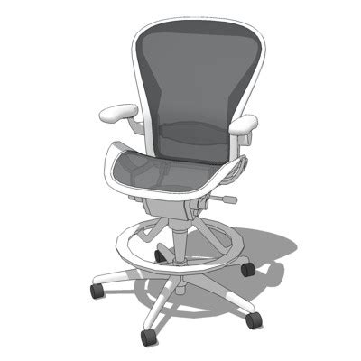 Aeron Work Stool Used by Aeron Stool 3d Model Formfonts 3d Models Textures