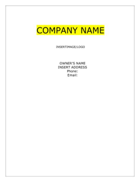 airline business plan template flight aviation business plan