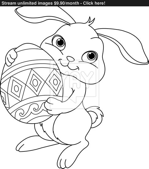 coloring pages vector easter bunny coloring page vector yayimages