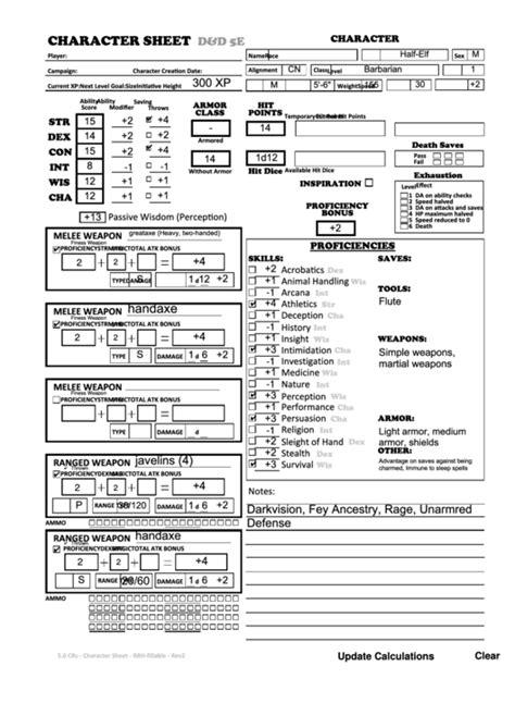 dd 3 5 template list character sheet d d 5e half barbarian printable pdf