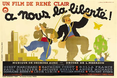 rene clair a nous la liberte movie poster of the week jean epstein s les aventures de