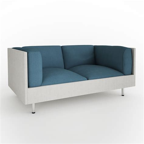 small 2 seater fabric sofa small seater fabric sofa 3d model