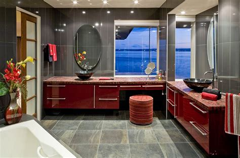 gray and red bathroom 21 sensational bathrooms with the ravishing flair of red