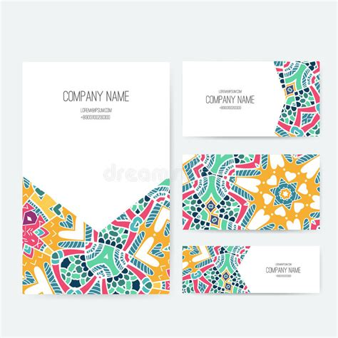 arabic business cards templates presentation vector kit stock vector illustration of
