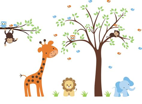 nursery wall decals animals wall sticker baby nursery elephant decal diy animal