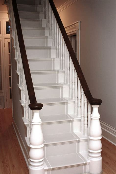 how to paint a stair banister 1000 ideas about painted stair railings on pinterest