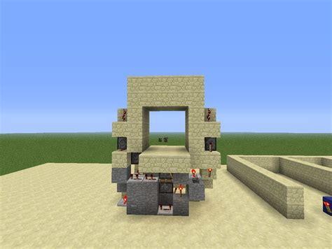 minecraft 3x3 piston door minecraft project