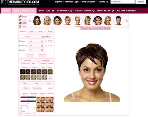 virtual hair colour changer hair virtual makeover short hairstyle 2013