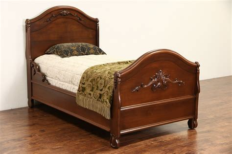 sold victorian hand carved walnut 1860 s antique twin or