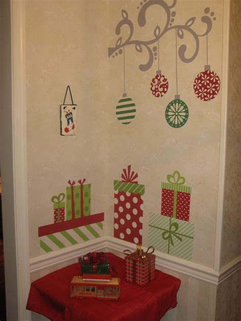 christmas wall decorating ideas christmas decoration ideas for kids room wall decals