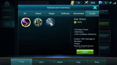 mobile legends items mobile legends all movement and jungle items