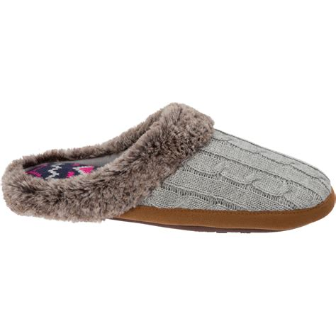 walmart slippers womens df by dearfoams s velour clog slipper shoes