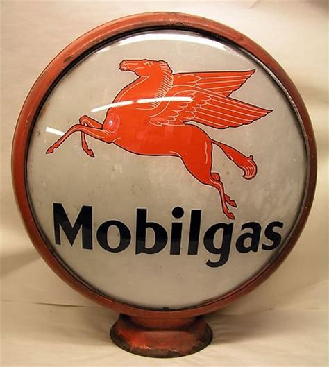 antique gas l globes antique 16 5 quot mobil gas pump globe complete with both