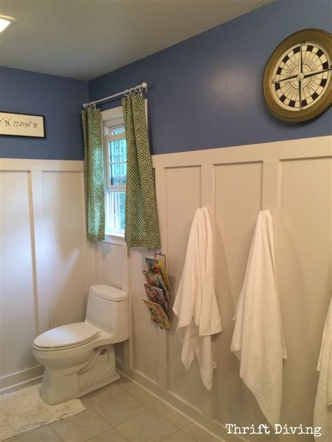 kids bathroom makeover before after kids bathroom makeover reveal thrift diving blog