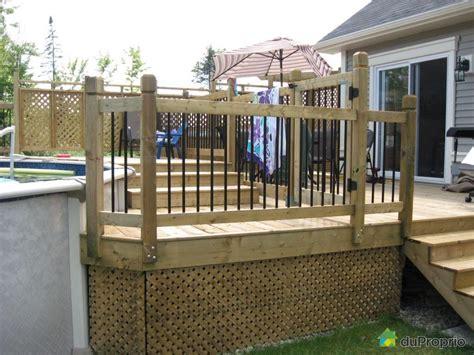 patio piscine construire patio piscine hors terre recherche