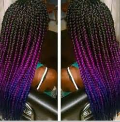 different color braiding hair 1000 ideas about purple box braids on box